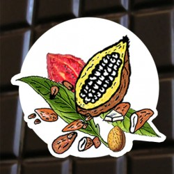 Brut de cacao aux amandes