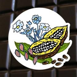Chocolat noir lin