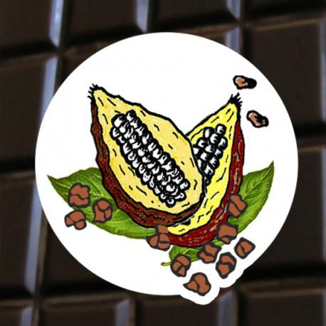 Chocolat noi aux fèves de cacao