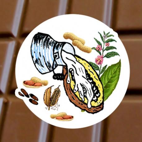 Chocolat au lait Sésame cacahette